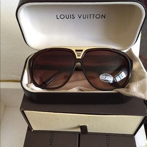 AUTHENTIC LOUIS VUITTON EVIDENCE SUNGLASSES
